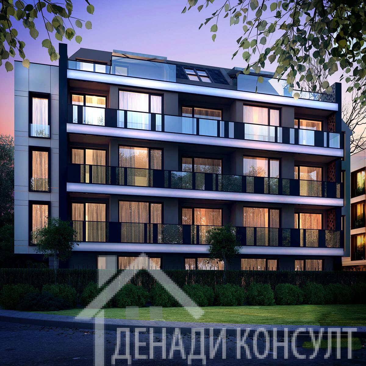 """Двустаен апартамент с тераса в бутикови сгради """"Алиса"""""""